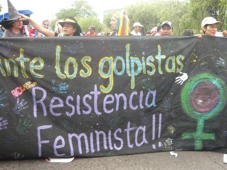 Feministas en Resistencia contra el golpe de Estado