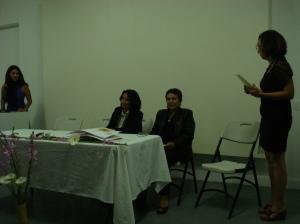 samblea ANDEH: Clio, Rebeca, Anarella y Diana